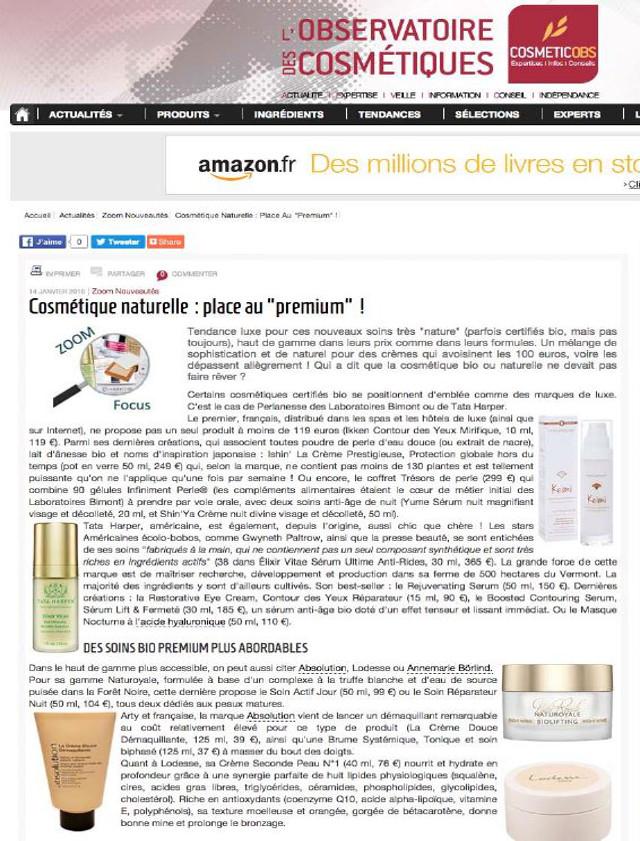 L'Observatoires des cosmétiques